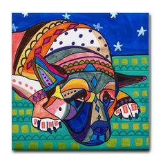 dog coasters  Ceramic Tile  Akita Art Dog  by HeatherGallerArt, $20.00