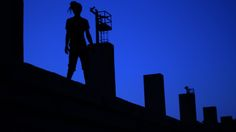 FRAL - RUFF [Track Video]  Frame in silhouette on a blue background. Frame by KESE films