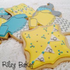 gender neutral baby shower onesies and elephants
