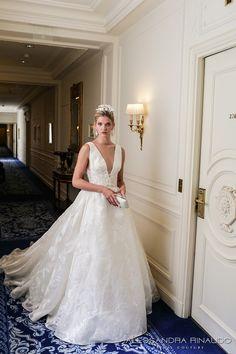 alessandra rinaudo 2017 bridal sleeveless deep v neck full embellishment pretty princess a line ball gown wedding dress low v back chapel train (bridget) mv