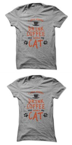 Rainbow Cat Shirt I Just Wanna Drink Coffee And Cuddle My Cat #cat #emoji #t #shirt #cat #shirt #middle #finger #cats #t #shirt #musical #wild #cats #t #shirt