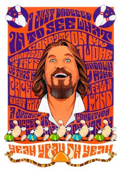 Condition lithograph limited edition by Dave Nestler featuring the Dude