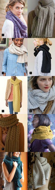 Scarf patterns to start knitting now!
