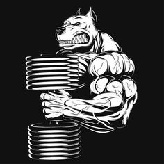 Illustration of Vector illustration, strong rhino doing exercise with dumbbells for biceps vector art, clipart and stock vectors. Dog Vector, Vector Clipart, Vector Graphics, Vector Art, Rhino Tattoo, Gym Logo, Fitness Motivation Pictures, Gym Motivation, Motivational Pictures