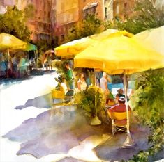 """Shadows Under the Tuscan Sun""  (watercolor)  -  nakari.com"