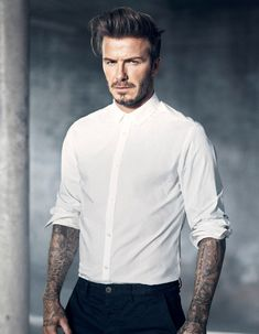 H&M and David Beckham Collaboration News: Modern Essentials Pictures | Glamour Style David Beckham, Moda David Beckham, David Beckham Photos, David Beckham Fashion, Fast Fashion, Mens Fashion, Fitness Fashion, Style Fashion, Fashion Beauty