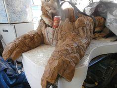 The Tiger with model week six Matrix Opal, Outdoor Sculpture, Natural Stones, Sculptures, Artisan, Model, Scale Model