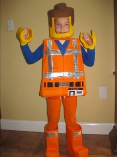 Lego Emmet inspired costume. SOLD OUT Due to by TheCharacterBin