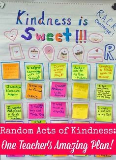 Random Acts of Kindness: One Teacher's Amazing Plan!   Minds in Bloom