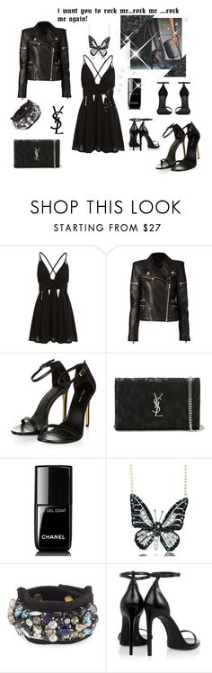 """classy 'n rock"" by maryanacoolstyles ❤ liked on Polyvore featuring Balmain, Yves Saint Laurent, Chanel, Andrew Hamilton Crawford and Marni"