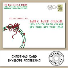 editable christmas envelope template christmas envelope addressing