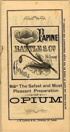 Vintage. Papine: the safest and most pleasant preparation of opium; chemists cocalac, nourishing. vitalizing.