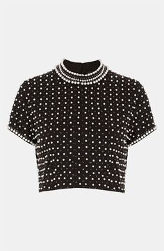 Topshop Embellished Crop Top available at #Nordstrom
