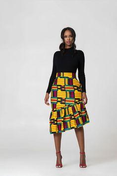 Store Grass fields African Print Ren Pencil Skirt is good as African Fashion Skirts, African Inspired Fashion, African Print Fashion, African Print Skirt, African Print Clothing, African Pencil Skirt, African Attire, African Wear, African Style