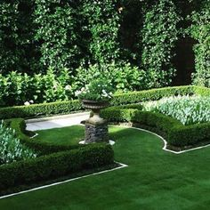 Formal Gardens, European style garden, boxwood hedges, boxwood, garden statuary