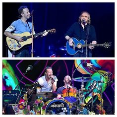 Glastonbury 2016 - Coldplay and the legendary Barry Gibb of the Bee Gees!