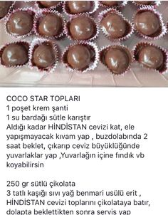 Çikolatalı COCO star topları