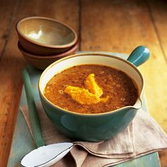 This easy Indian soup recipe is a cinch to make - after a little preparation you can sit back and let your hob do the rest.