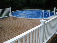 Attractive Above Ground Pool Decks Made of Wood: Amazing Above Ground Pool Deck With Wooden Style Natural Atmosphere ~ SQUAR ESTATE Pool Inspiration