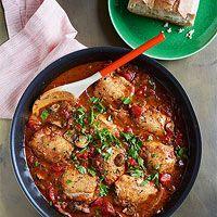 Red chicken Marsala from Rachel Ray Great Recipes, Dinner Recipes, Favorite Recipes, Dinner Ideas, Turkey Recipes, Chicken Recipes, Turkey Dishes, Red Chicken, Chicken Thighs