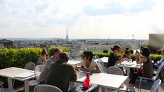 A place we should definitively go to grab a drink on Thursday. They open until 10pm and the roof gives a magnificent view over Paris!