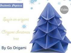 Sapin de Noël en origami / Origami christmas tree