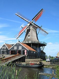 "Windmill ""de Rat"" in IJlst, Friesland, Holland."