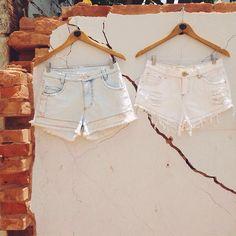 O começo. ❤ #lojaamei #jeans #shorts #muro