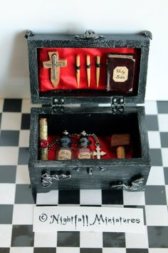 Dollhouse Miniature Gothic Vampire Hunting by NightfallMiniatures, £30.00