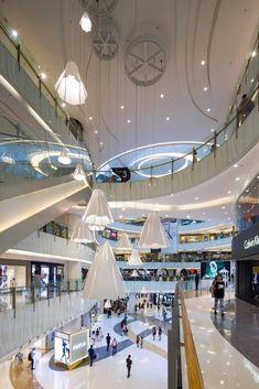 By aedas yarn store, mall facade, mall design, shopping malls, shopping center Shopping Mall Interior, Shopping Malls, Scandinavian Architecture, Scandinavian Interior Design, Mall Design, Design Logo, Dark Interiors, Shop Interiors, Mall Facade