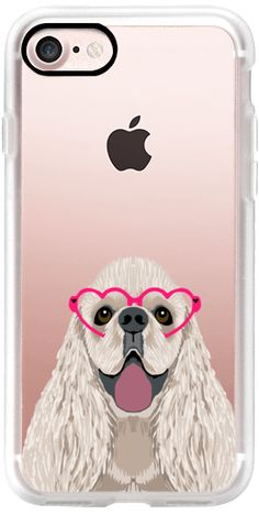 Casetify iPhone 7 Classic Snap ケース - Cocker Spaniel heart glasses funny dog cell phone case by pet friendly  by Pet Friendly #Casetify