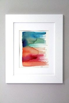 Abstract Watercolor Abstract Painting by sandraculliton on Etsy, $60.00