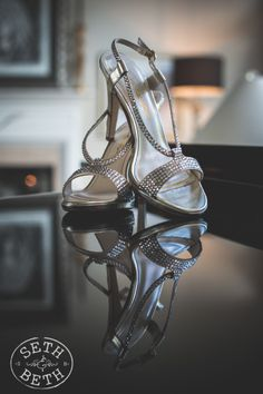 bride's shoes by Seth and Beth
