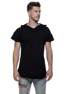 Short sleeve hoody black