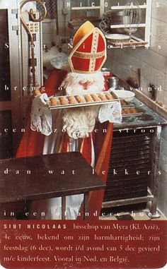 Recipes for St. Nicholas beverages, breads, candy, cookies, cupcakes, desserts and main dishes