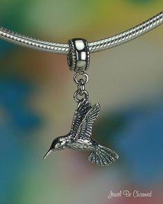 Hummingbird Charm for European Style Bead by jbccharmjewelry, $12.45