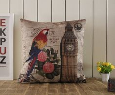 Red Yellow Blue Parrot Scarlet Macaw London UK by LilleHomeIdeas