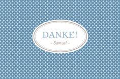 Dankeskarte Mini Chic by Tomoë für Rosemood.de #Danksagung #Babykarte #klassisch