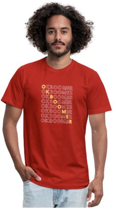 You can find 10 color options and multiple size options by clicking the link - CLICK AND BUY! Ok Boomer, Word Puzzles, Bella Canvas, Fabric Weights, Cool Shirts, Gray Color, Unisex, Link, Cotton