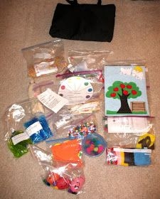 The Sanders Family: If you get the invitation to make busy bags... say YES!!