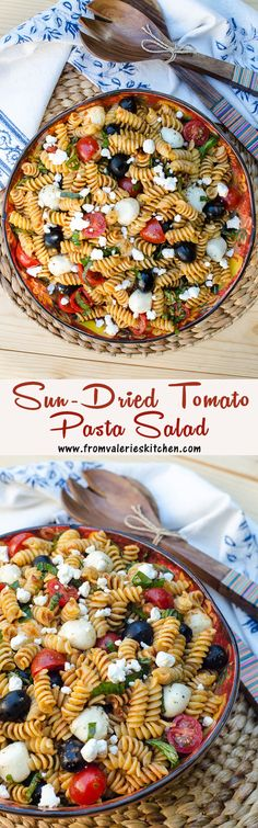 This pasta salad is fast, easy, and FULL of flavor! ~ http://www.fromvalerieskitchen.com