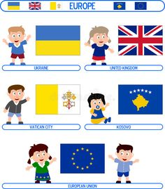 Illustration of characteristic - 5400923 Flags Europe, Door Stickers, Illustration Art, Playing Cards, Clip Art, Kids Rugs, Stock Photos, Costumes, Activities
