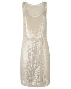 Dresses | CREAM Georgette Trim Sequin Dress | Jigsaw UK