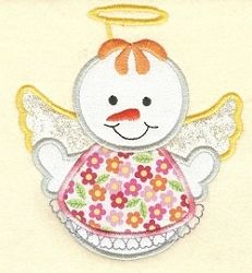Snow Angel Applique - 2 Sizes! | Angels | Machine Embroidery Designs | SWAKembroidery.com Designs by Juju
