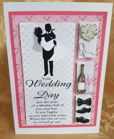 Your Wedding Day Window Card Front 2 by Deloraine Neubauer: I have printed the design on 170gsm gloss card. I have attached to a…