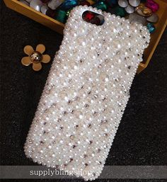 New Bling Cute Mixed Sparkly Full Chic Gems Pearls Rhinestones Diamonds Gemstones Fashion Lovely Hard Cover Case for Various Mobile Phones