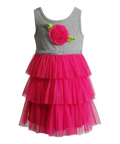 Loving this Youngland Pink Tiered Tulle Dress - Infant, Toddler & Girls on #zulily! #zulilyfinds