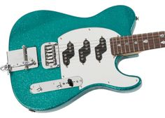 G&L USA Will Ray Signature Turquoise Metal Flake