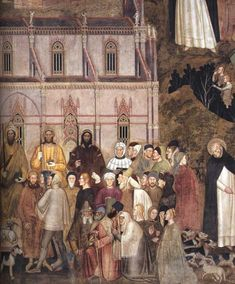 Andrea di Bonaiuto, Way of Salvation (detail), 1365-68, fresco, Cappella Spagnuolo, Santa Maria Novella, Florence