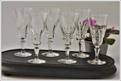 Baccarat Piccadilly 6 flûtes à champagne neuve - 6 Champagne flutes new